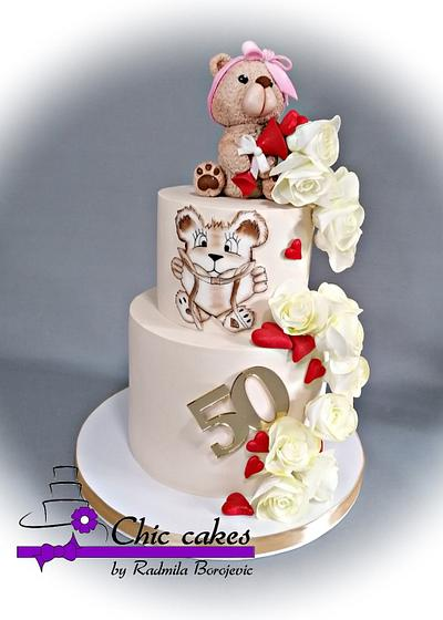 Cake for 50th.... - Cake by Radmila