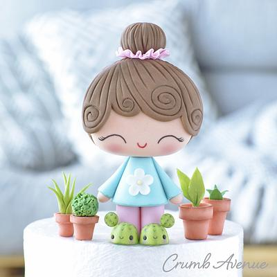 Cute Little Gardener Cake Topper - Cake by Crumb Avenue