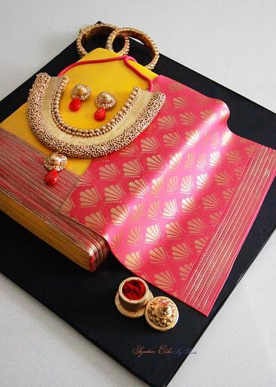 Indian Saree Cake  - Cake by Signature Cake By Shweta