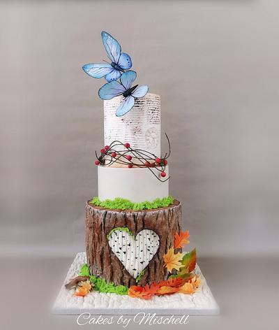 Autumn wedding cake  - Cake by Mischell