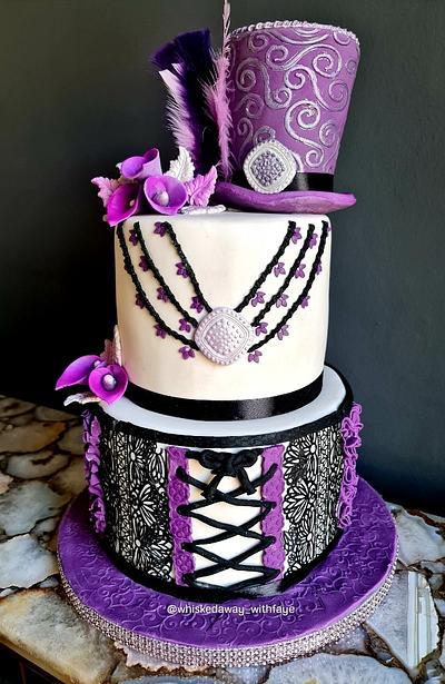 Funky Purple Hat cake! - Cake by FayePramraj