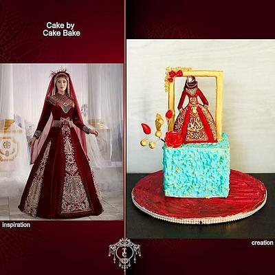 Bridal Dress with Hijab - Cake by CakeBake BD