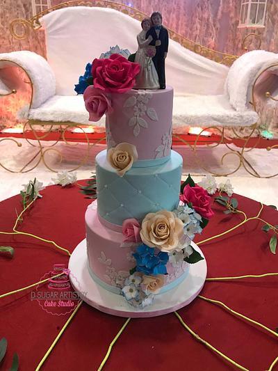 Wedding cake  - Cake by D Sugar Artistry - cake art with Shabana