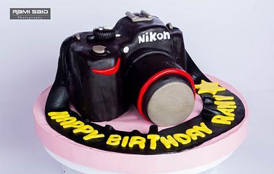 Nikon camera cake - Cake by Gourmet Cupcake