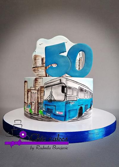 Bus themed cake - Cake by Radmila
