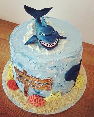 Shark cake - Cake by BoryanaKostadinova
