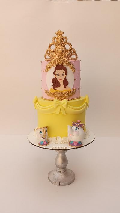 La bella y la bestia!  - Cake by Gabriela Scollo