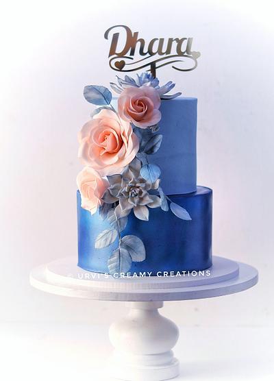 Blue Birthday Cake - Cake by Urvi Zaveri