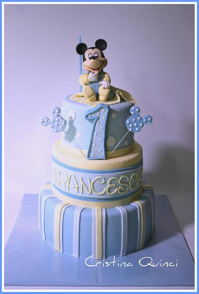 Mickey Mouse baby cake - Cake by Cristina Quinci