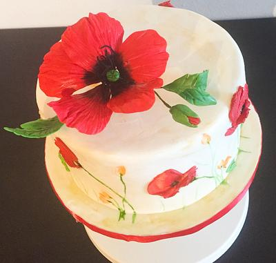 Poppies Cake - Cake by Miss Dolce Cakes