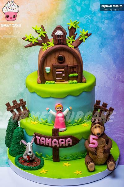 Masha and the bear cake  - Cake by Gourmet Cupcake