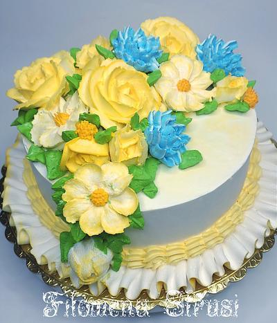Anniversary cake 🙂 - Cake by Filomena