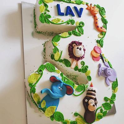 Icing number cake - Cake by TORTESANJAVISEGRAD