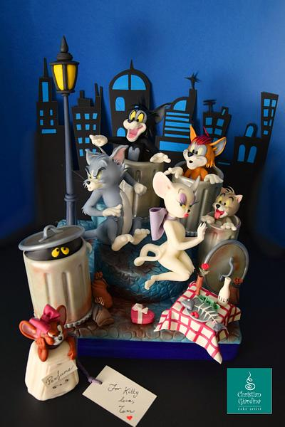 Tom and Jerry...and some friends!  - Cake by Christian Giardina