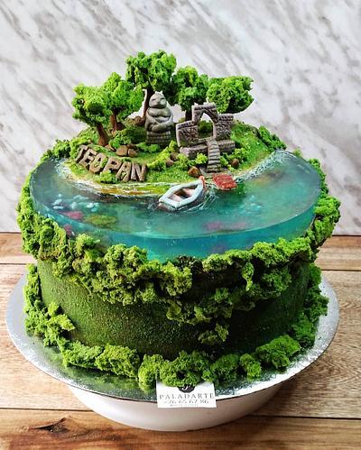 Island in a lake cake - Cake by Paladarte El Salvador