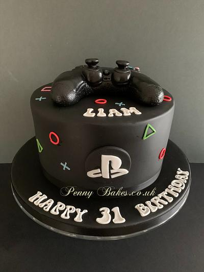 PlayStation cake - Cake by Penny Sue