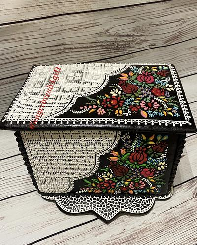 3D cookie box with Hungarian pattern - Cake by Maria