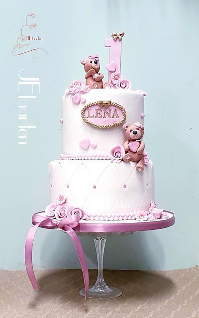 First birthday cake  - Cake by Judith-JEtaarten
