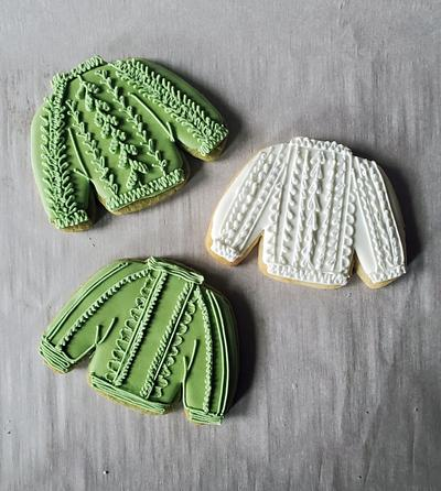 sweater cookies <3 - Cake by Sydney Megan Connor