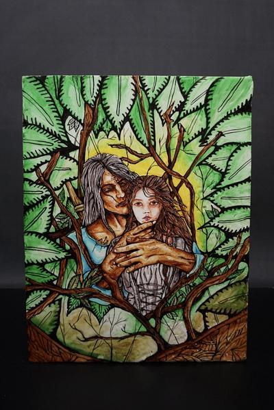 Sugarpaste Painting 'LOVE' - Cake by Duygu Tugcu