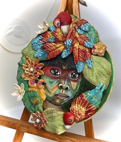 Niño de la Tribu Kayapo del Amazonas  - Cake by Yolanda