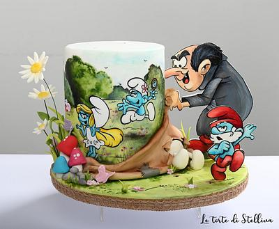 Smurfs cake - Cake by graziastellina