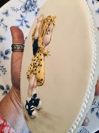 Nearly big girl cookie - Cake by effiespantrycakes