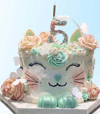 Kitty Birthday Cake - Cake by eiciedoesitcakes