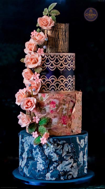 Wedding cake - Cake by Urvi Zaveri