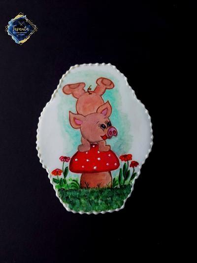 Painting on cookie - Cake by Tasnuta Cake Artistry ( TASNUTA ALAM)