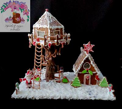 Gingerbread cookie decor - Cake by Sudeshna
