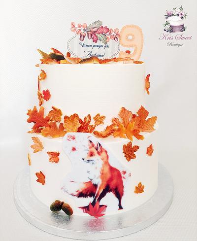 Fox on cake - Cake by Kristina Mineva