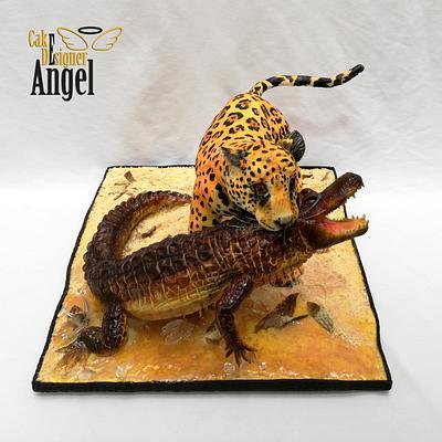 Jaguar vs Caiman  - Cake by Angel Torres