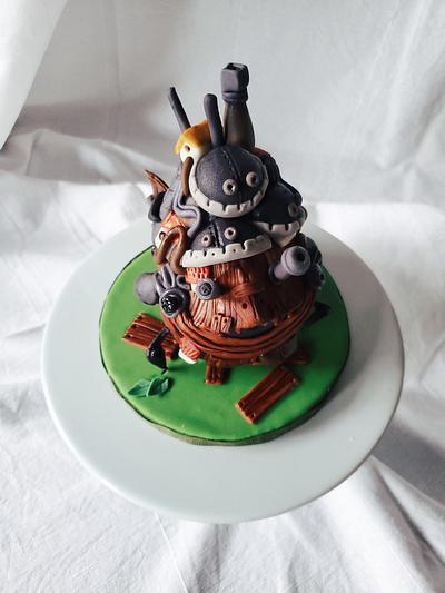 Howl's Moving Castle Cake - Cake by Sydney Megan Connor