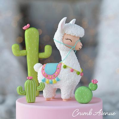 Llama Cake Topper - Cake by Crumb Avenue