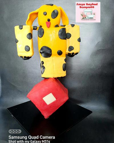 Roblox Theme Cake  - Cake by Amys bayked bouquett
