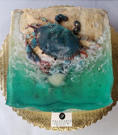 Crab in the ocean - Cake by Paladarte El Salvador
