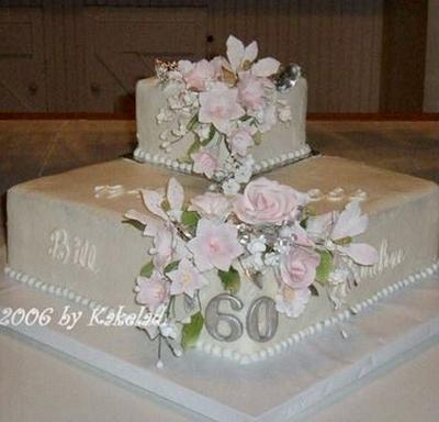 60th anniversary  - Cake by kakeladi
