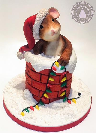 Barney the Christmas Mouse - Merry Christmas Collab  - Cake by MellisTortenzauber