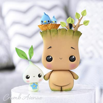 Groot & Little Sprout - Cake by Crumb Avenue