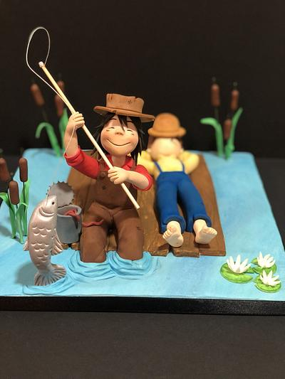 The Adventures of Tom Sawyer, for SUGAR ARTIST LEAGUE 80's Cartoons collaboration - Cake by Patricia Alonso