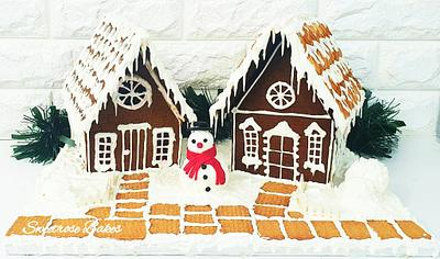 Gingerbread Houses  - Cake by Rose