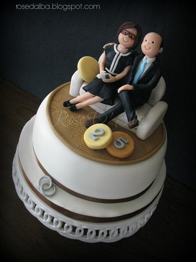 25th wedding anniversary - Cake by Rose D' Alba cake designer