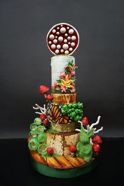 Barney Tier Cake - Cake by Duygu Tugcu