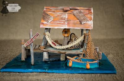 "Sweet Summer COllaboration - Fishing Hut - Cake by ""Cute Cake!"" Lady (Carol Seng)"