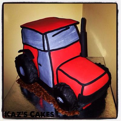 Red Tractor - Cake by Karen