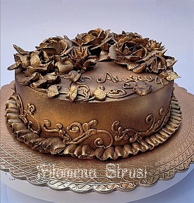 Gold ganache cake  - Cake by Filomena