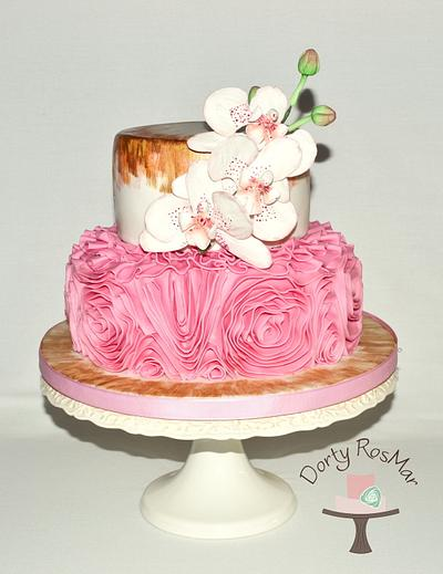Ruffle and Orchid Cake - Cake by Martina