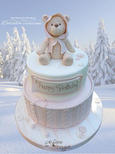Winter teddy - Cake by Dolcidea creazioni