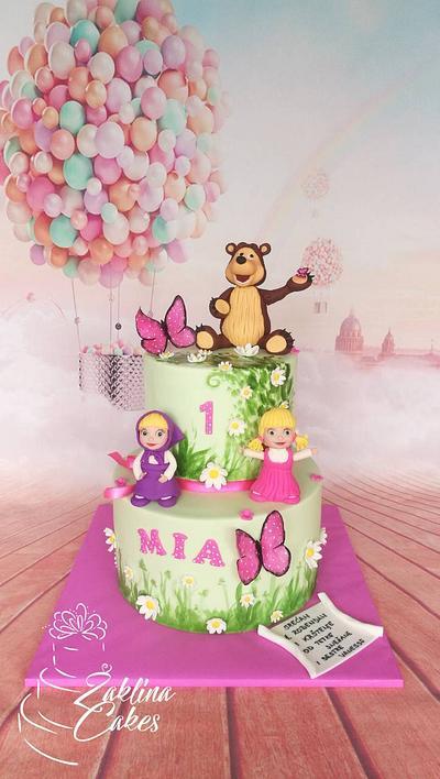 Masha, bear and little girl cake - Cake by Zaklina
